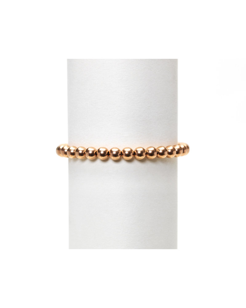 Karen Lazar 5mm Rose Gold Beaded Bracelet
