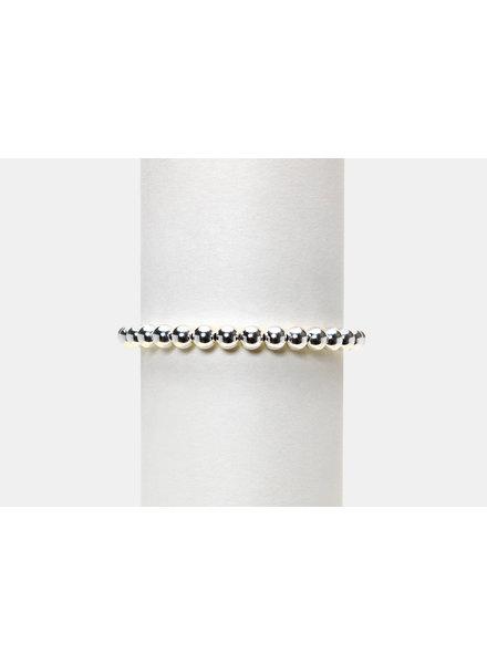 Karen Lazar 5mm Sterling Silver Beaded Bracelet
