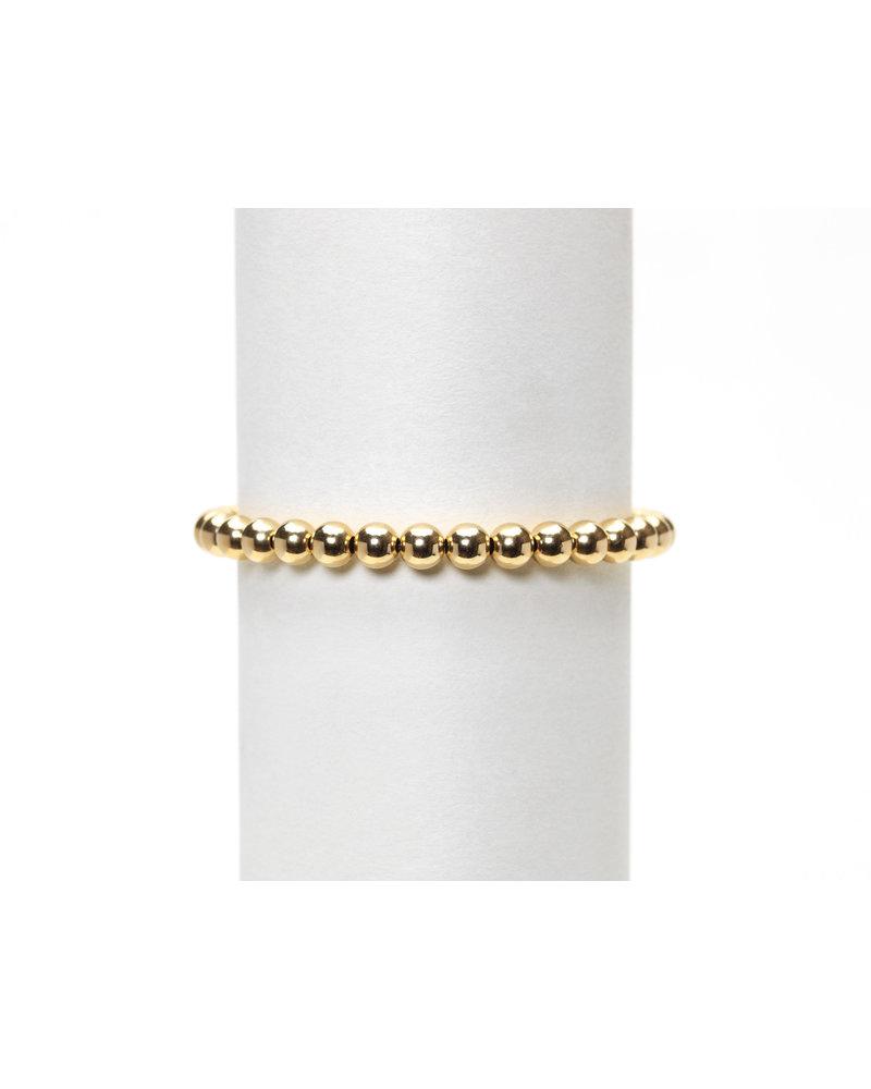 Karen Lazar 5mm Yellow Gold Beaded Bracelet