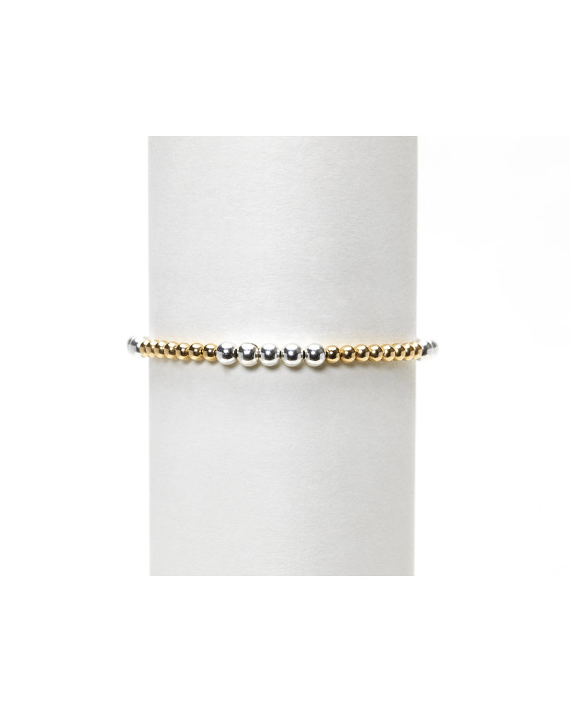 Karen Lazar 3mm Yellow Gold with 4mm Sterling Silver Mix