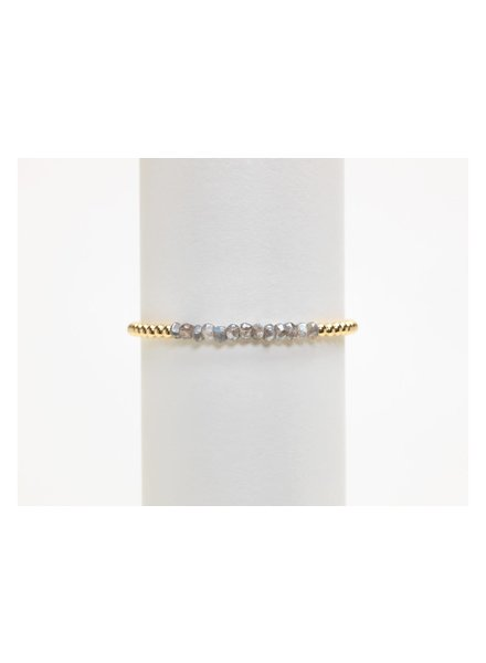 Karen Lazar 3mm Yellow Gold Bracelet with Labradorite
