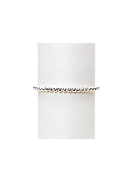 Karen Lazar 4mm Sterling Silver Beaded Bracelet