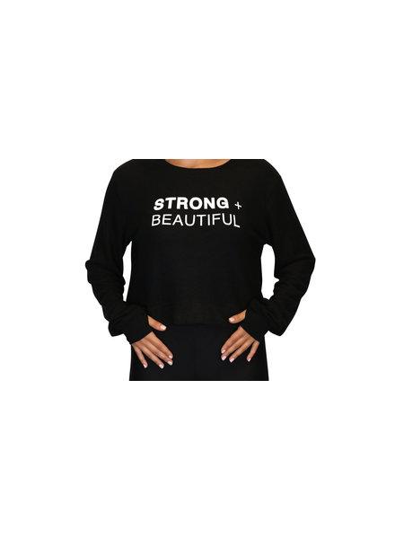 Strong + Beautiful Strong + Beautiful Sweatshirt Cropped