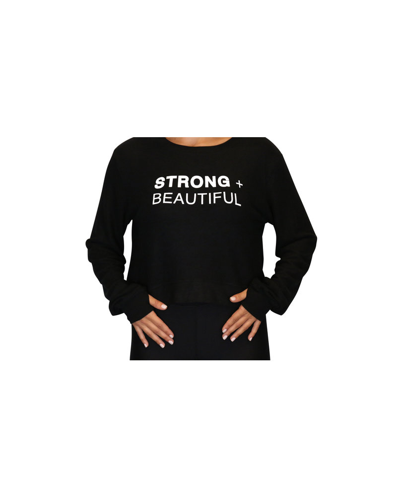 Strong + Beautiful Strong + Beautiful Sweatshirt Cropped