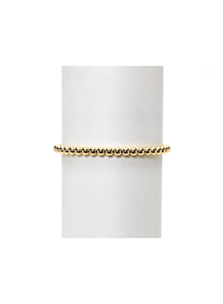 Karen Lazar 4mm Yellow Gold Beaded Bracelet