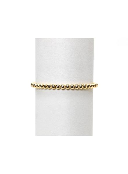 Karen Lazar 4mm Yellow Gold Beaded Bracelet