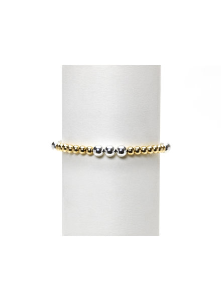Karen Lazar 4mm Yellow Gold with 5mm Sterling Silver Mix