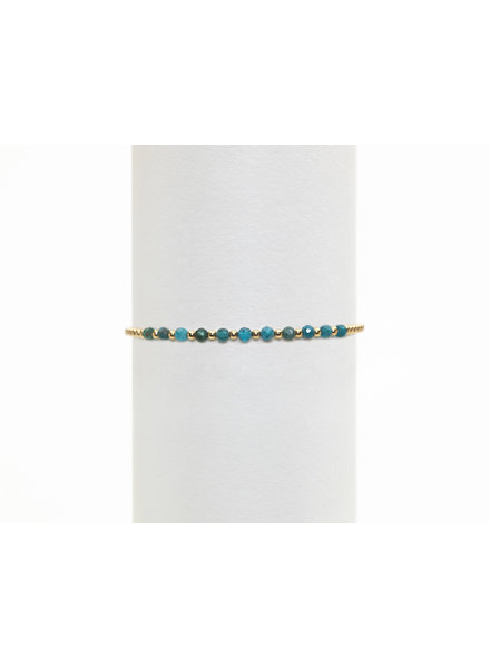 Karen Lazar 2mm Yellow Gold Blue Apatite Pattern