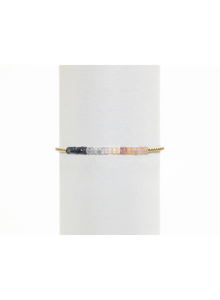 Karen Lazar 2mm Yellow Gold Blue Ombre