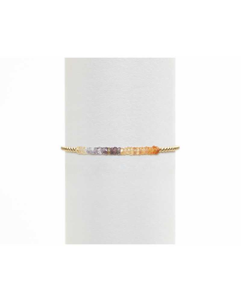 Karen Lazar 2mm Yellow Gold Peach Ombre