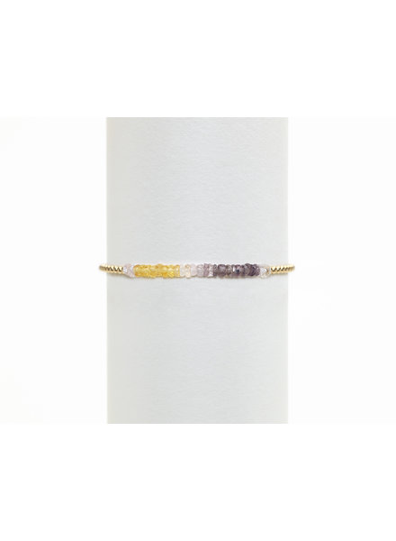 Karen Lazar 2mm Yellow Gold Citrine Ombre