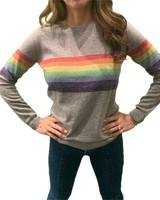 Madeleine Thompson Humbert Jumper Grey w/ Rainbow F19