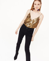 CAMI NYC The Olivia Lame Gold H19