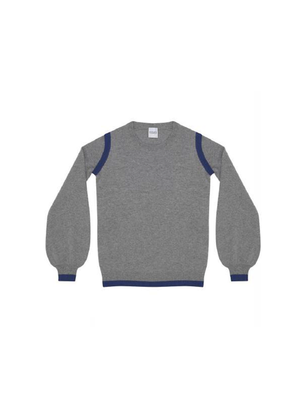 Madeleine Thompson Achilles Jumper Grey w/Blue H19