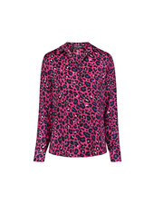 David Lerner Portman Button Down Shirt Fuschia/Royal Leopard H19