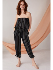Cool Change Maya Jumpsuit Stripe Black/White R20