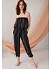 Cool Change Maya Jumpsuit Stripe Black/White R20