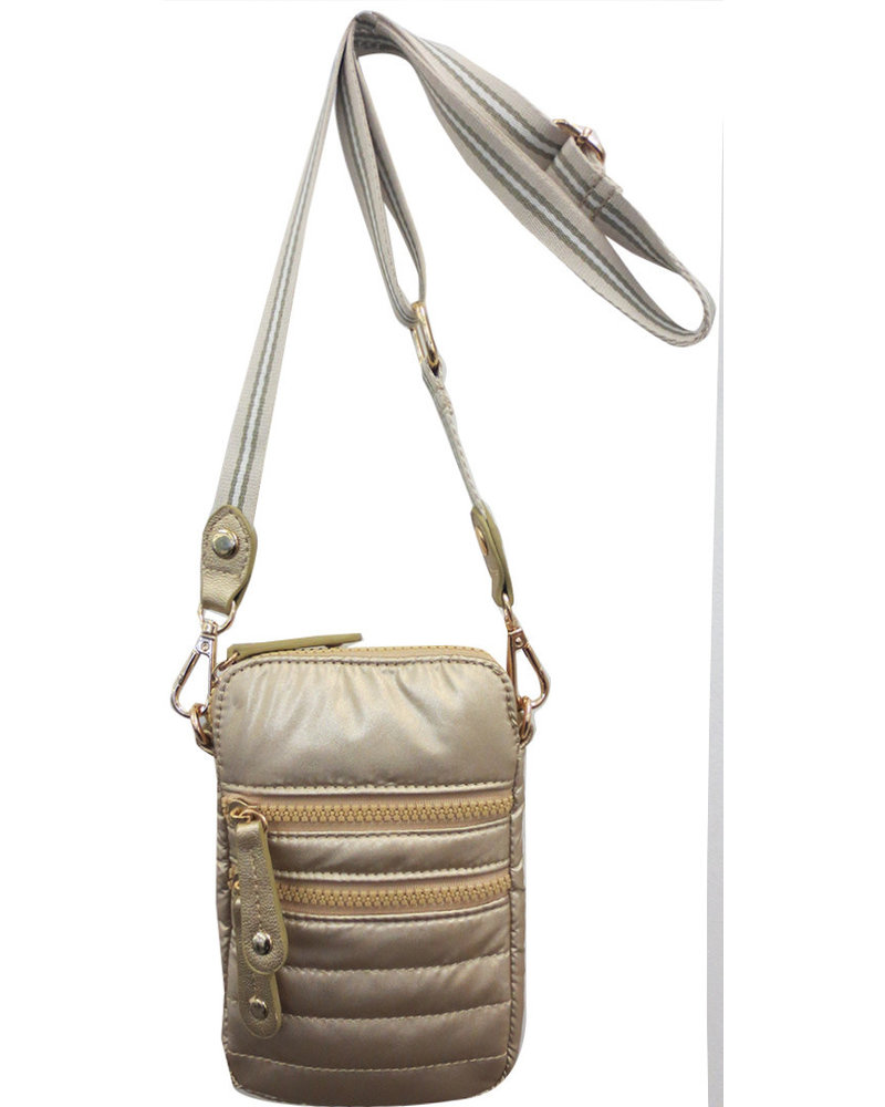 Sondra Roberts Phone Crossbody Metallic Nylon SRB2-5198