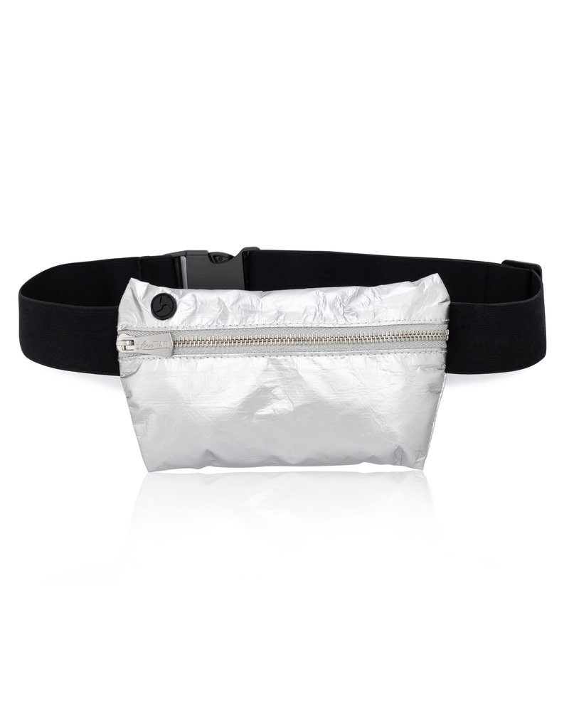 Hi Love Travel Invisible Pack - Metallic Silver with Black Strap