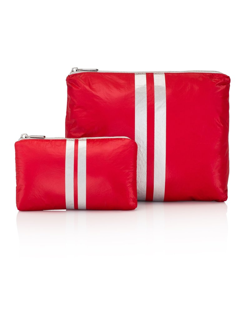Hi Love Travel Chili Pepper Red with Silver Stripe - 2 Set