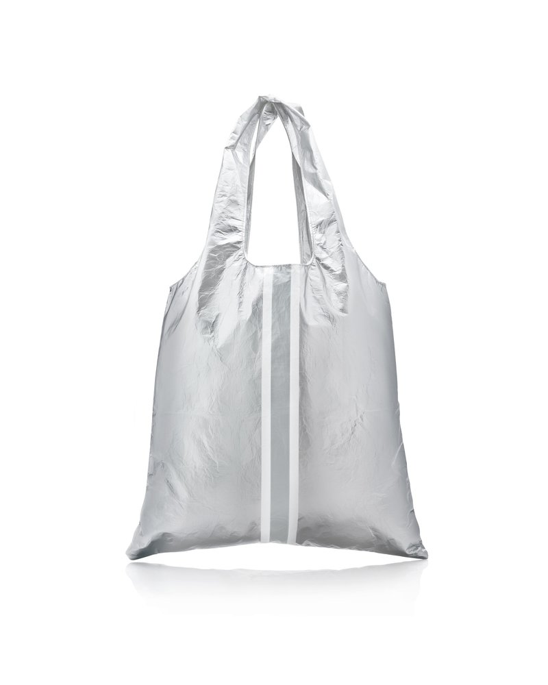 Hi Love Travel Carryall - Metallic Silver with Triple Line