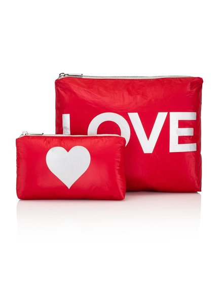 Hi Love Travel Chili Pepper Red with Silver LOVE - 2 Set