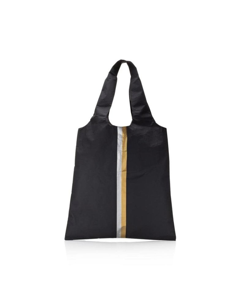 Hi Love Travel Carryall - Black with Double Metallic Line