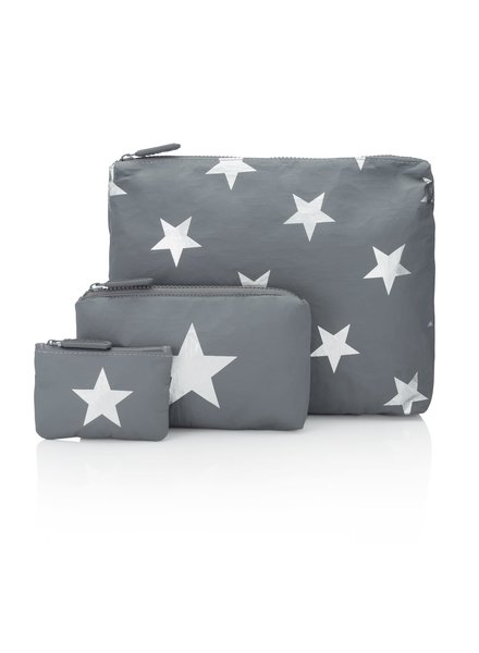 Hi Love Travel Cool Grey with Stars - 3 Set