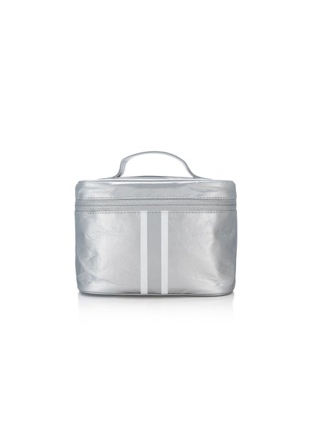 Hi Love Travel Makeup Carrier - Metallic Silver