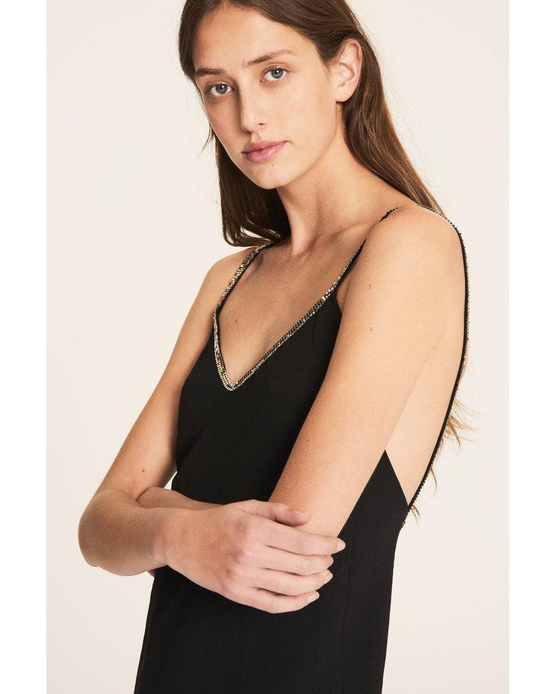 BASH Dress Slad Black Noir SS20