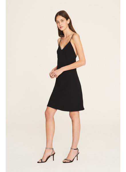 BASH Dress Slad Black Noir SS20