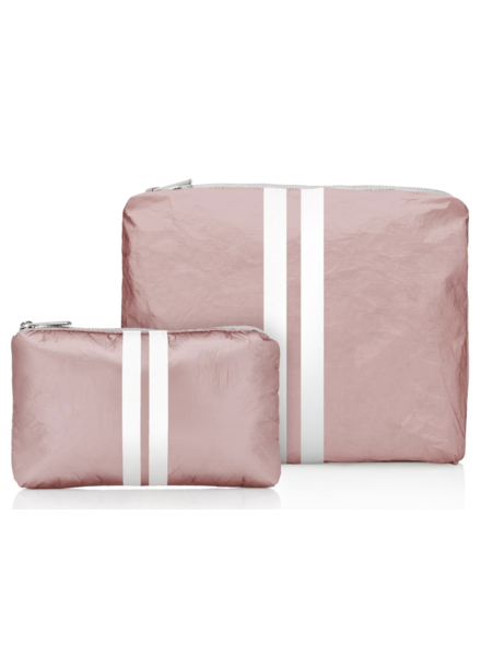 Hi Love Travel Shimmering Pink Sand with White Lines - 2 Set
