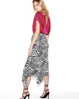 SEN Marcella Midi Skirt Black/White S20