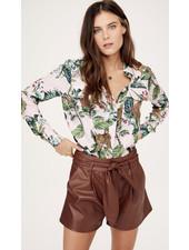 David Lerner Portman Button Down Shirt Jungle Print S20