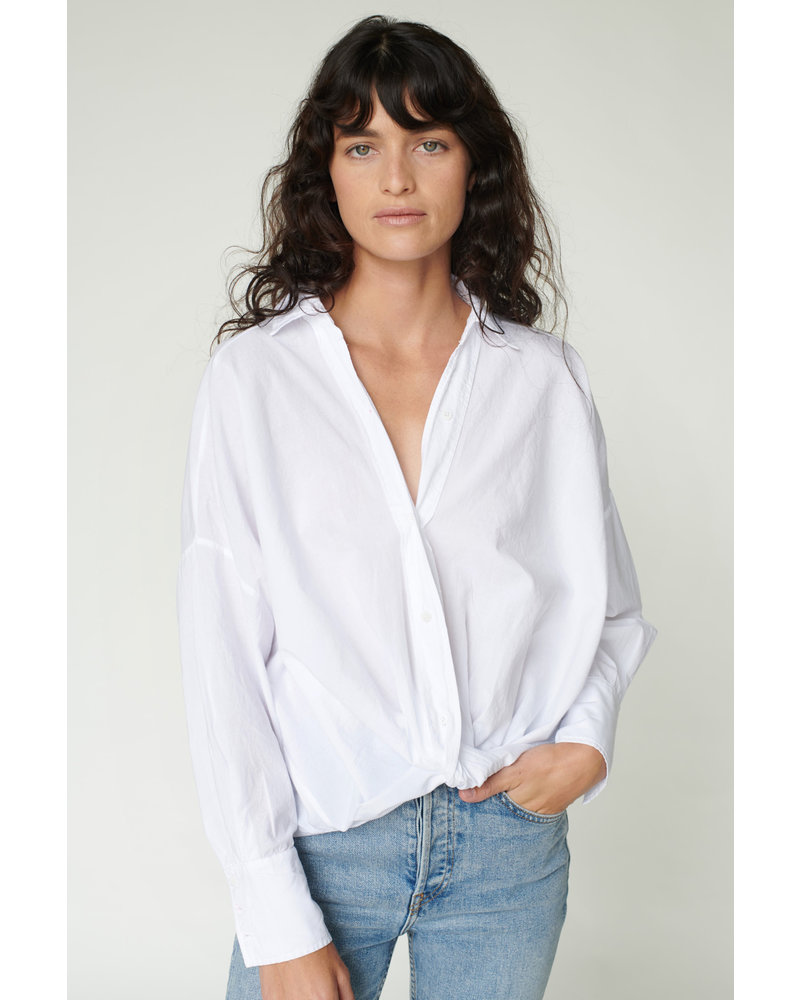 Stateside Poplin Twist Front Shirt S20