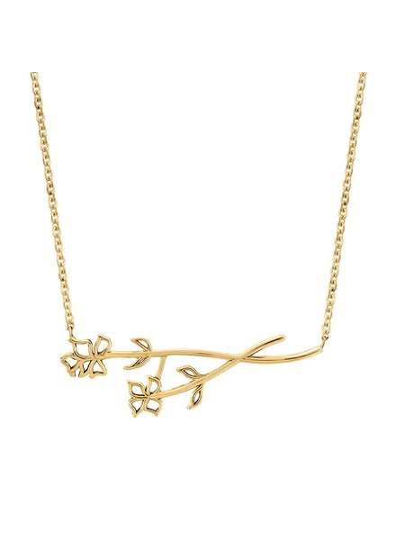 Sincerely x Winter Stone Sideways Flower Necklace