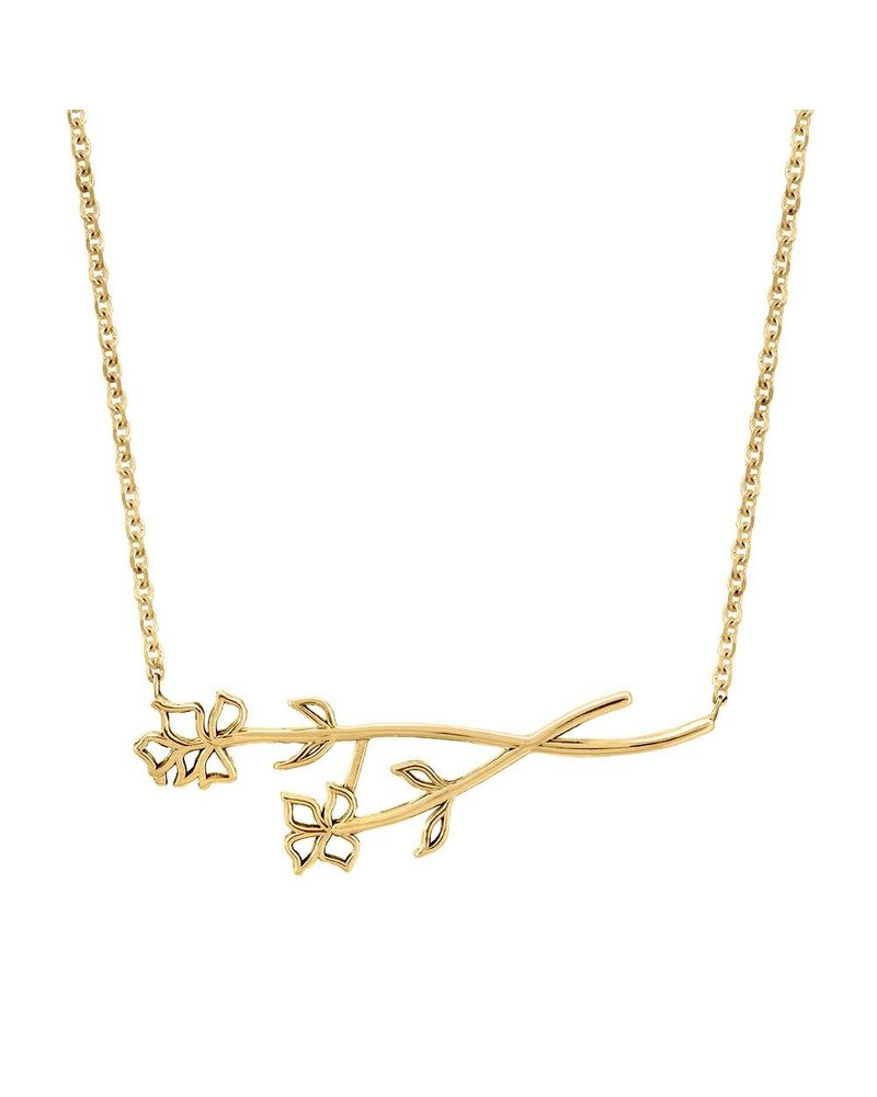 Sincerely x Winter Stone Sideways Flower Necklace
