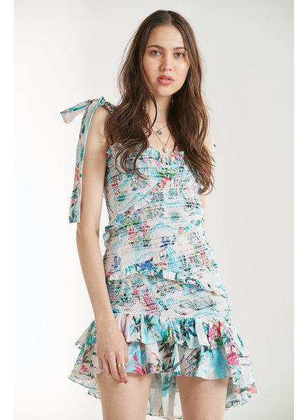 Rococo Short Dress Sunset Blue S20