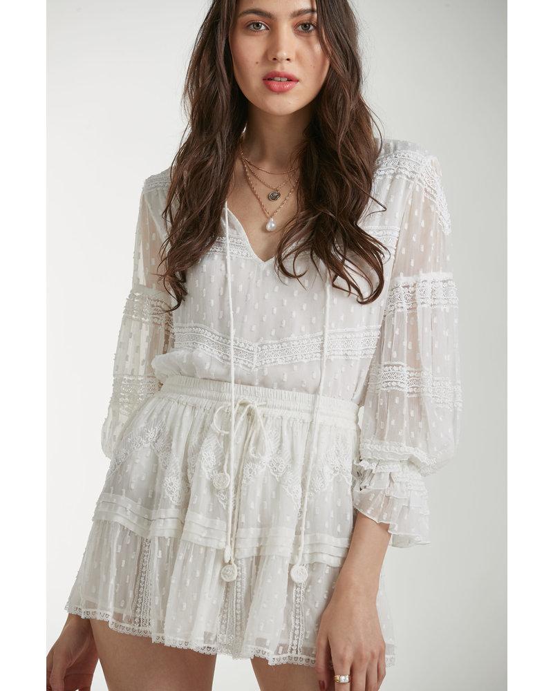 Rococo Short Skirt Selene Off White S20
