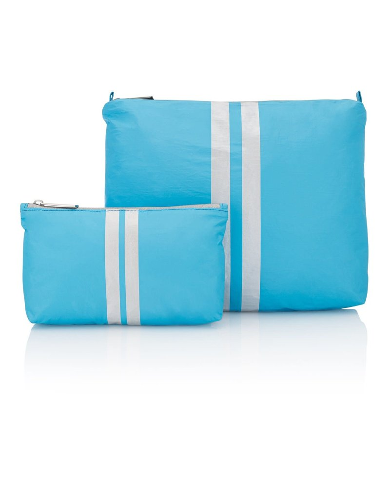 Hi Love Travel Sky Blue with Double Silver Lines - 2 Set