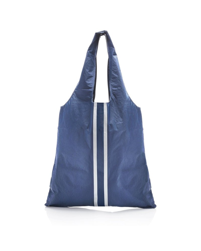Hi Love Travel Carryall - Shimmer Navy with Double Metallic Line