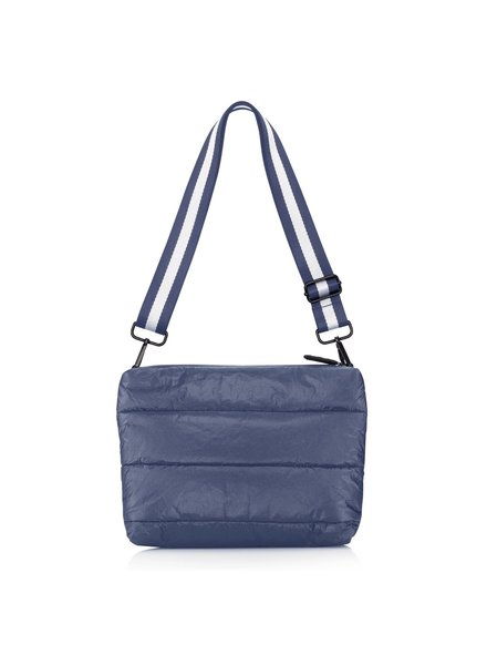 Hi Love Travel Puffer Purse Shimmer Navy