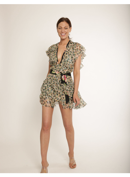 Le Superbe Flirty Leopard Chiffon Dress Van Gogh H19