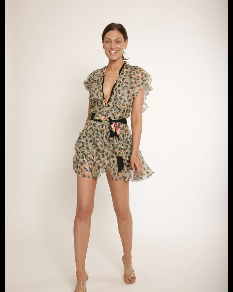 Le Superbe Flirty Leopard Chiffon Dress Van Gogh H19