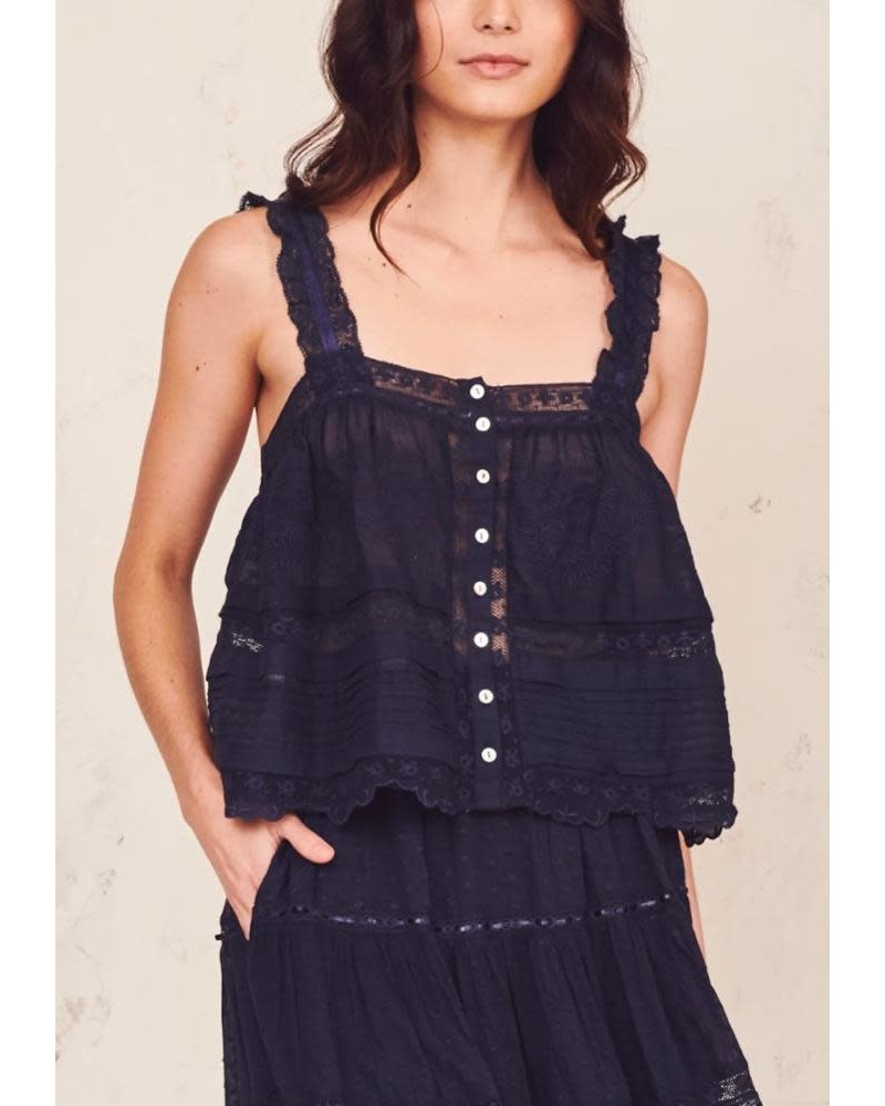 Love Shack Fancy Sully Top Navy S20