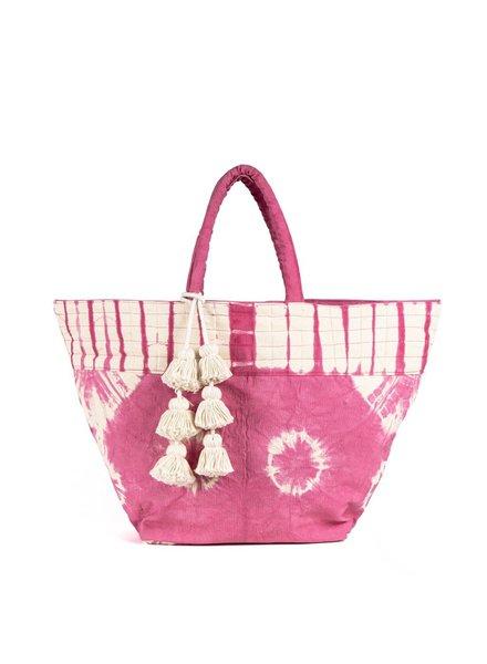 JADEtribe Tie Dye S Tote Tassel Pink