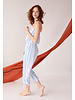 Cool Change Maya Jumpsuit Horizon Stripe - White Cobalt S20