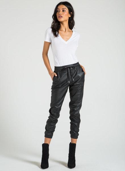 n:Philanthropy Scarlett-Leather Jogger Black Cat S20