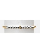 Karen Lazar 3mm Yellow Gold with 3mm Sterling Silver And 14K Gold Rondelle