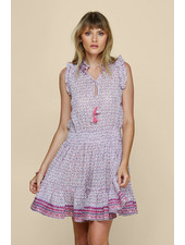 POUPETTE ST BARTH Mini Dress Triny Ruffled Purple Domino